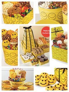 Smiley Face Gift Towers, Smiley Face. Happy Face Party Planning, Ideas & Supplies