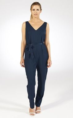 Jumpsuit by Chic Hangers London. This deep blue is a lovely colour!