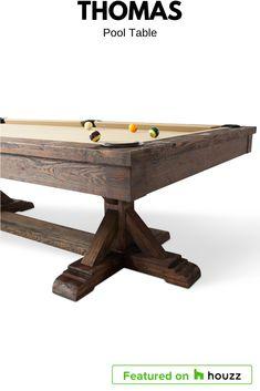 Rustic Pool Table With Ash Colour E Black And Simonis Slate - Rustic modern pool table