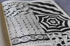 Zentangle style doodle
