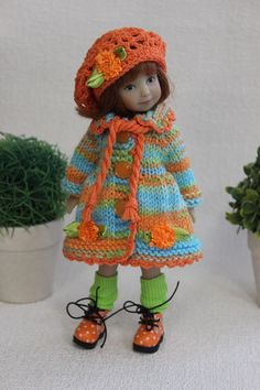 Clothing includes a dress, a coat,2 a hat, 2 a scarf, gaiters and a bracelet. The doll and shoes are not for sale, but only clothes. | eBay!