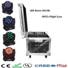 (737.20$)  Watch more here - http://aikbk.worlditems.win/all/product.php?id=32717928868 - 4pcs/lot with flight case for 36x3w RGBW Mini Led Moving Head Beam Wash Spot Light Dj Disco Club Party LED Stage Effect Lighting