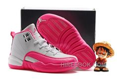 "http://www.hireebok.com/2017-kids-air-jordan-12-vivid-pink-cheap-to-buy-5t7bhk.html 2017 KIDS AIR JORDAN 12 ""VIVID PINK"" CHEAP TO BUY 5T7BHK Only $78.00 , Free Shipping!"