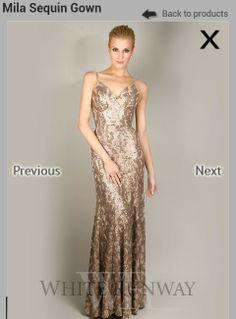 Sequin bridesmaid dress.