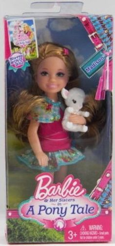 Barbie & Her Sisters in a Pony Tale Madison Doll Chelsea with Lamb #Mattel