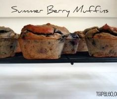 Summer Berry Muffins - Paleo