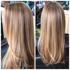 #balayage #highlights #honey #blonde #natural #longhair by kenya