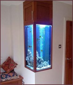 Built in fish tank - Click image to find more Home Decor Pinterest pins