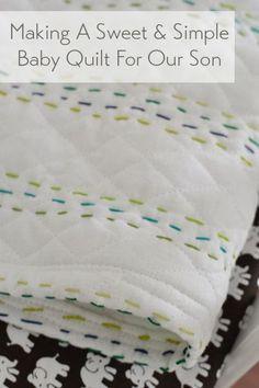 Making An Easy Handmade Baby Quilt – Handmade baby quilts Handmade baby quilts, Diy baby stuff, Hand Quilt Baby, Baby Quilt Patterns, Quilting Projects, Quilting Designs, Sewing Projects, Handgemachtes Baby, Diy Baby, Bebe Love, Handmade Baby Quilts
