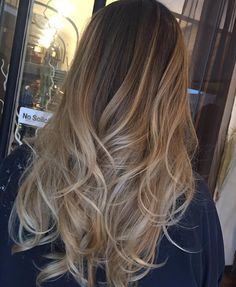 Love! Balayage Hair, Ombre Sombre, Highlights On Blonde Hair, Beige Highlights, Brown To Blonde Balayage, Ombre Hair Color, Hair Color And Cut, Light Hair, Hair Heaven