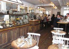 peels- bar height table across from bar