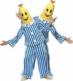 walson instyles Bananas in Pyjamas TV Adult Unisex Fancy Dress Mens Yellow Banana Costume Bananas In Pyjamas Costume, Banana Costume, Banana In Pyjamas, Pajamas, Pun Costumes, Duo Halloween Costumes, Halloween Kostüm, Adult Costumes, Halloween Queen
