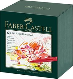 Faber Castell India Ink PITT 60/CT Artist Brush Pen Studio Box - 167150 Faber Castell http://smile.amazon.com/dp/B00KYTNNY2/ref=cm_sw_r_pi_dp_-2pcxb0PTE0AP
