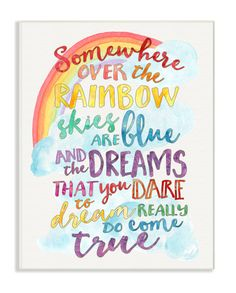 Somewhere Over the Rainbow with Rainbow Wall Plaque