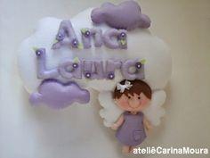Anjo nuvem - lilás - morena