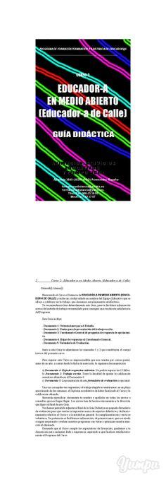 Guia Didactica EDUCADOR-A EN MEDIO ABIERTO (Educador-a de Calle) -  Matricula abierta. Descuentos