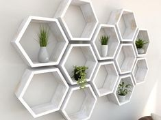 T h e . S h e l f - Our honeycomb hexagon wall shelves are a fun and modern way to display your favourite items around the house. The matching geometric shape of these shelves mean they can be arranged in a wide range of different patterns and layouts to form fun and quirky wall