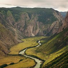 Beautiful Landscape. Mountains And Green Valley by yuriyzhuravov