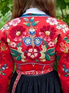 Folk Embroidery Swedish folk costume from Dala-Floda photo by Laila Duran Scandinavian Embroidery, Swedish Embroidery, Crewel Embroidery, Vintage Embroidery, Embroidery Patterns, Floral Embroidery, Embroidery Thread, Polish Embroidery, Embroidery Alphabet