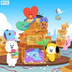 Image uploaded by meli. Find images and videos about kpop, bts and on We Heart It - the app to get lost in what you love. Bts Wallpaper, Iphone Wallpaper, Bt 21, Loli Kawaii, Bts Chibi, Line Friends, Bts Fans, Bts Group, Cute Characters