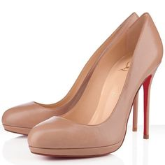 Christian Louboutin Pumps 120mm Leather Nude