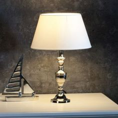 Lampa Adeline silver 44cm