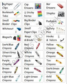 Supply Box Labels (39 Drawer Storage Cabinet) from I love Common Core... on TeachersNotebook.com (2 pages)  - Mini Drawer Labels with Pictures for Supply Box