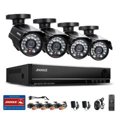 ANNKE 8CH CCTV HDMI DVR 4PCS 900TVL IR Weatherproof Outdoor CCTV Camera Home Security System Video Surveillance Kits RU Stock