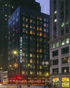 Hotel Monaco, a boutique hotel near the Chicago River.  Kimpton Chicago; Weddings; Kimpton Hotels