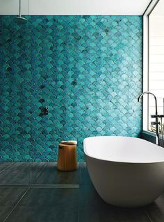 Wwwhouseoftilesie Blog Revive Your Walls With Bevelled Arabesque - Green-bathroom-tile