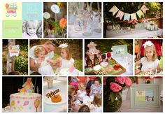 Ice cream pink blue green and yellow party for Isla Pink Blue, Blue Green, Yellow, Rhubarb Marmalade, Ice Cream Pink, Table Decorations, Party, Photography, Design