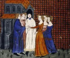 Did Medieval Brides Really Smell Bad?: Depiction of the wedding of Louis X to Clemance Hongrie in 1315, from a 14th-century manuscript, <i> Grandes Chroniques de France.</i> MS. Douce 217
