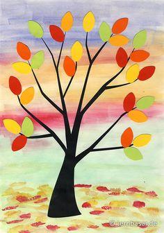Herbst - die Bäume lassen ihre Blätter fallen