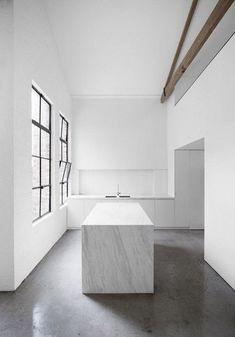 Kitchen design in marble Interior Desing, Interior Design Inspiration, Interior Architecture, Architecture Board, Interior Modern, Minimalist Kitchen, Minimalist Interior, Minimalist Design, Minimalist Architecture