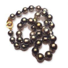 www.ORRO.co.uk - ORRO – Gold Clasp Tahiti Pearls Necklace - ORRO Contemporary Jewellery Glasgow