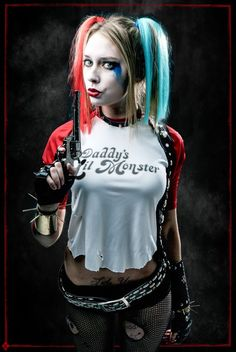 Suicide Squad won't be hitting theaters until 2016, but the film is already making 2015 headlines! Dressing as the Suicide Squad version of Harley Quinn would be a great costume this year!