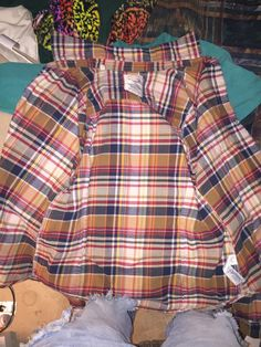 A personal favorite from my Etsy shop https://www.etsy.com/listing/264059936/yellow-brown-vintage-plaid-sale-womens