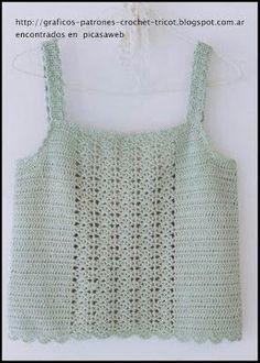 Crochet Fabric , Crochet - Ganchillo - P - Diy Crafts Crochet Fabric, Crochet Crop Top, Crochet Cardigan, Crochet Stitches, Crochet Hooks, Knit Crochet, Crochet Patterns, Baby Girl Crochet, Crochet Woman