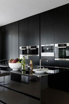 253925adb1170 Minimalist Bedroom, Minimalist Interior, Minimalist Kitchen, Minimalist  Decor, Black Kitchens, Home