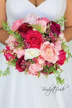 Prom Bouquet, Pink Flower Bouquet, Rose Bridal Bouquet, Prom Flowers, Spring Wedding Flowers, Bride Bouquets, Pink Wedding Flower Arrangements, Bouquet Of Flowers, Fuschia Wedding