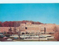 Unused Pre-1980 OLD CARS & HOSPITAL Bristol Connecticut CT v5722
