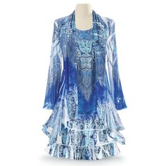 LOVE this outfit!!!!   Blue Bayou Dress - Gifts, Clothing, Jewelry, Home Decor and Home Furnishings as Featured in Popular Catalogs | Catalog Favorites
