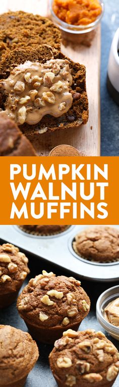 Bread? Or Muffins? How about both! This Healthy Whole Wheat Pumpkin Walnut Bread and Muffins recipe will give you the best of both worlds. They're made with white whole wheat flour, pumpkin puree, warm spices, and walnuts.