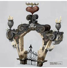 The Book of Life visual development artwork by Yashar Kassai Bg Design, Prop Design, Environment Concept Art, Environment Design, Game Environment, Book Of Life, The Book, Game Props, Steampunk Design