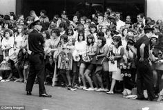 Familiar scenes: Fans wait for a glimpse of The Beatles in New York, 1966