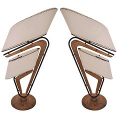 Pair of American Boomerang Table Lamps by William Garwood for Majestic Lamp Company, ca.1948