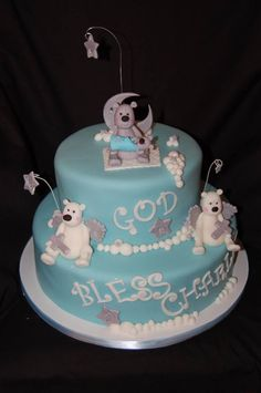 Baby Bear Baptism Cake, by Amy Hart, inspired by Andrea's Sweetcakes