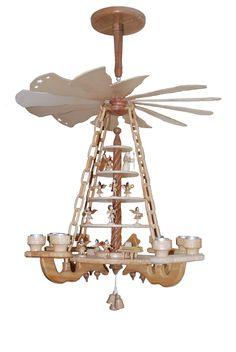 Hängepyramide (Etagen mit erzgeb. Engeln) Chandelier, Ceiling Lights, Lighting, Home Decor, Turning, Candelabra, Decoration Home, Room Decor, Chandeliers