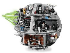 Death Star Lego. The ultimate set. It will be ours someday, oh yes. It will be ours...