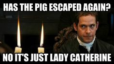 """I'm so glad someone made a pin of this! That part cracks me up in the movie! Charlotte's like  """"has the pig escaped again?!"""" and Mr. Collins is like, """" no it's just Lady Catherine"""""""